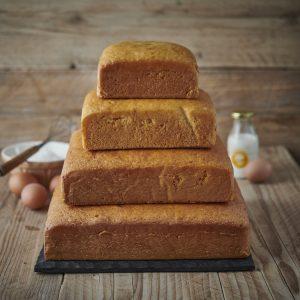 Square Vanilla Cake Stack